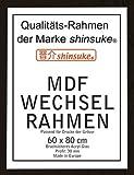 Empire 554246 Wechselrahmen für Poster der Größe 60 x 80 cm aus MDF Holzfaserwerkstoff, Aussenmaß 63 x 83 cm, 30 mm Profil mit Acrylglas, Holzoptik schwarz