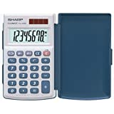 Sharp Calculator EL-243S - Calculadora básica, plateado
