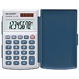 Sharp EL243S Pocket Calculator - White/Blue