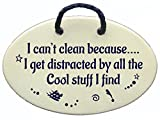 I can't clean because...I get distracted by all the Cool stuff I find. Ceramic wall plaques handmade in the USA for over 30 years.