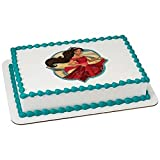 Whimsical Practicality Elena of Avalor Edible Icing Image (8 inch round),Black (Color: Black, Tamaño: 8 inch round)