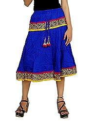 Sringar Women's Skirt (As2043_Blue_30)