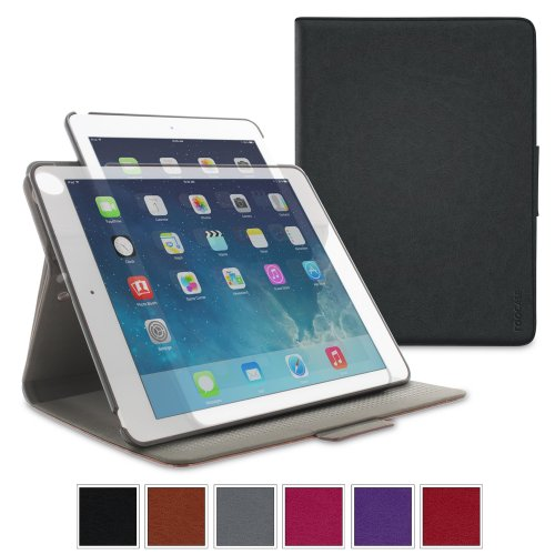 iPad Air 2 Case - roocase Orb System Folio 360 Dual View Leather Case Smart Cover with Sleep / Wake Feature for Apple iPad Air 1 / Air 2, Black - Patented Complete Lifestyle Solution