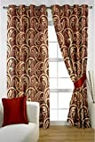 HOMEC Decorous Jacquard Curtain Set of 2 (Size - Long Door 46 X 108 inch/Color - Maroon)