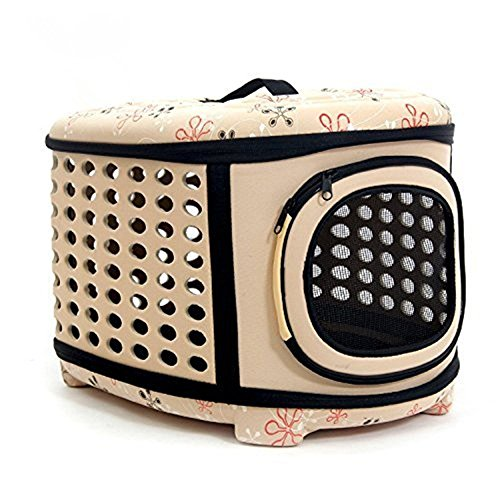 ERolldeeP Cute Soft EVA Portable Breathable Dog Carriers Oval Travel Box Cat Puppy Carriying Foldable Tote Handbags Perfect for Indoor & Outdoor