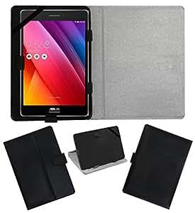 Acm Leather Flip Flap Carry Case For Asus Zenpad 7.0 Tablet Holder Stand Cover Black