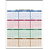 Color Quarterly Full Year View Single Sheet Wall Calendar Trade Show Giveaway