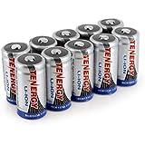 Card: 10pcs Tenergy RCR123A 3.0V 600mAh Li-Ion Rechargeable Battery