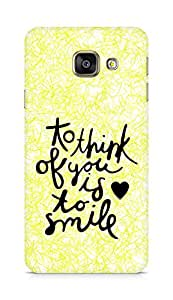 AMEZ to think of you is to smile Back Cover For Samsung Galaxy A3 (2016 EDITION)