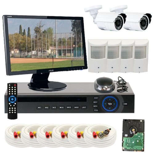 "Best Sale High End 8 Channel H.264 Realtime Dvr Security Camera System, Free 22"" Hdmi Monitor And Hdmi Male - Male Cable. 2 X 1/3"" Hdis Ccd Security Camera, 650Tv Line, 3.6Mm Lens, 24Pcs Infrared Led, 49 Feet Ir Distance And 4 X 1/3"" Sony Ccd Hidden Camer"