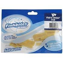 Fishbites 0037 Fish'n Strips Crab Saltwater Long Lasting Bait, Yellow