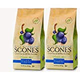 Sticky Fingers Scone Mix (Pack of 2) 15 Ounce Bags - All Natural Scone Baking Mix (Wild Blueberry)