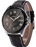 Agent X Herren Armbanduhr Quarzuhr Schwarze Armband aus Leder mit