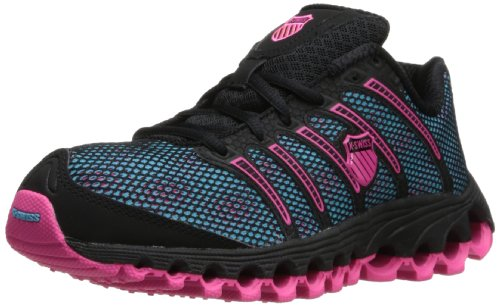 K-Swiss Women's Tubes 100 A Jogger,Black/Pink/Blue,6.5 M US