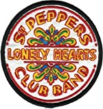 The Beatles - Round Sgt. Pepper's Lonely Hearts Club Band Drum Logo - Embroidered Iron On or Sew On Patch Amazon.com