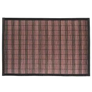 tapis de salle de bain en latte de bambou 45x75 cm prune cuisine maison. Black Bedroom Furniture Sets. Home Design Ideas