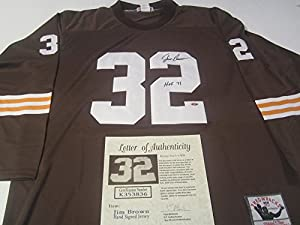 Jim Brown Cleveland Browns Signed Autographed Jersey Authentic Certified Coa