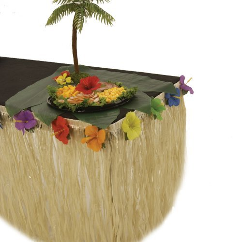 Hibiscus Raffia Table Skirt