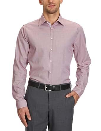 Seidensticker Herren Businesshemd, Slim Fit,  225696, Gr. 43, Mehrfarbig (45 (Struktur rot))
