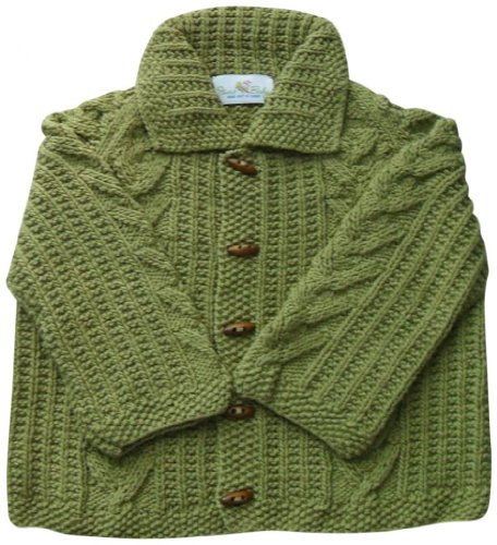 Junebee Baby, Inc. My Trendy Toddler Cotton & Bamboo Knit Cardigan - Olive Green - 3T front-956410