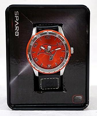 Tampa Bay Buccaneers NFL Licensed Logo Sparo Gambit Color Bezel Wrist Watch