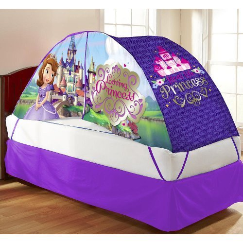 Disney Sofia the First Bed Tent with Pushlight - 1