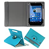 KOKO ROTATING 360° LEATHER FLIP CASE FOR Lenovo IdeaTab A1000 TABLET STAND COVER HOLDER SKY BLUE