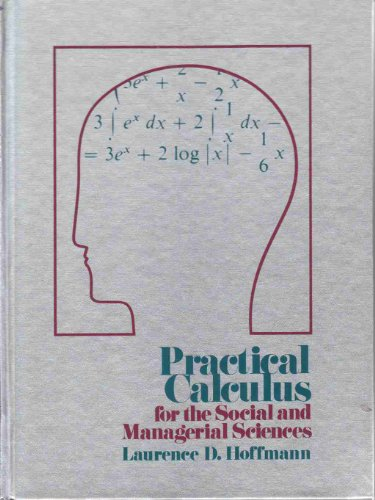 Practical calculus for the social and managerial sciences PDF