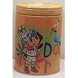 Dora The Explorer Round Tin Coin Bank Lets Explorer The Jungle