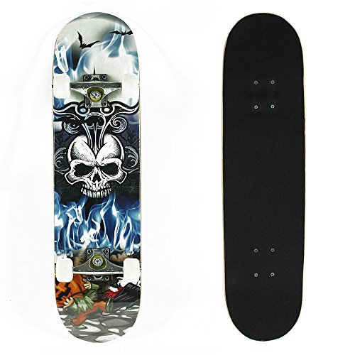 senmi-skull-complete-skateboard-31-inch-785cm-with-a-canadian-7-ply-maple-deck-street-style-with-fre