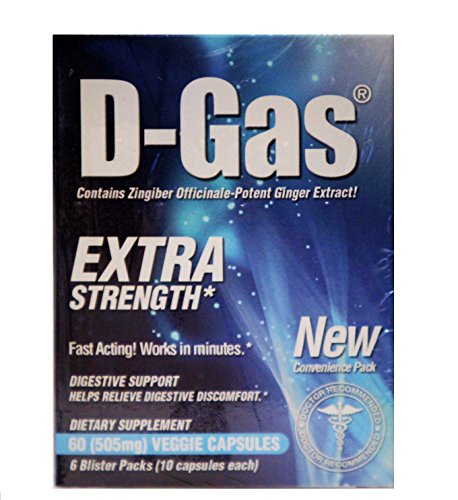 Nature Health D-Gas Natural Anti-Gas, Digestive Aid and Gas Relief, 60 Count (Antacid Gas compare prices)