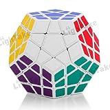 Cubo rompecabezas Shengshou Megaminx, color blanco.