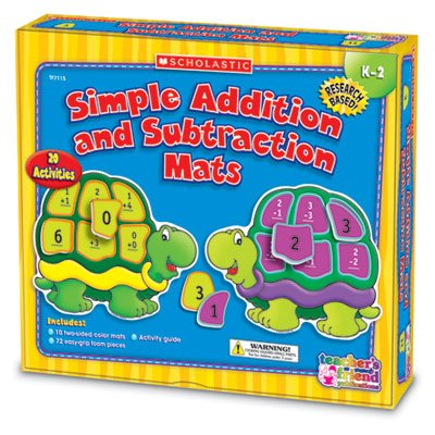 New-Scholastic Tf7115 - Addition And Subtraction Mats Kit, Grades K-2 - Shstf7115 back-1078961