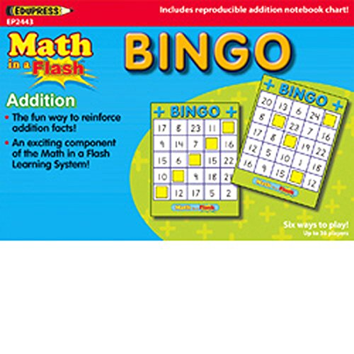 Edupress Ep-2443 Math In A Flash Bingo Addition back-1052302