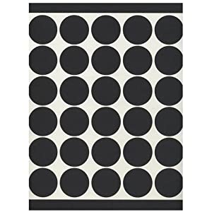 JAM Paper® - Black Circle Label Sticker Seals (1.5 inches) - 120 labels per pack