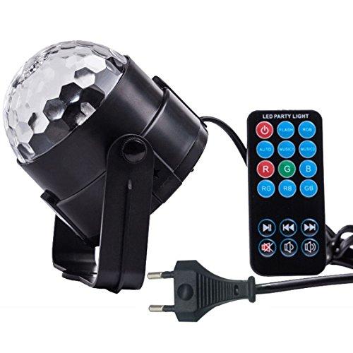 Partylicht LED DiscoLicht Beleuchtung - Spriak LED RGB Spot Party Light mit 3W, Fernbedienung und akustischer Steuerung. Als Bühnenbeleuchtung, Effektlicht, für die Disco, Tanzfläche, zu Halloween, Weihnachten oder auch für Hochzeiten, Bars, Clubs und vieles mehr. Lichtstreuung wie bei einer Discokugel