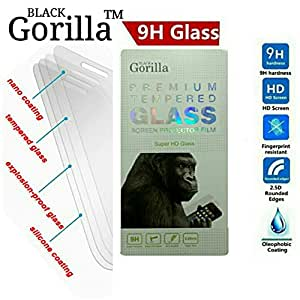 Black Gorilla™ 100% Premium Tempered Glass Screen Protector for Micromax Canvas Hue 2 A316