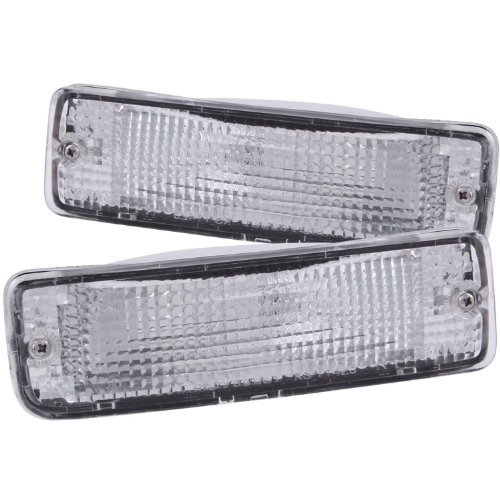 Anzo USA 511019 Toyota Chrome Clear w/Amber Reflectors Bumper Light Assembly - (Sold in Pairs) (1991 Toyota Parts compare prices)