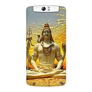 Enticing Shiva Samadhi Print Back Case Cover for Oppo N1