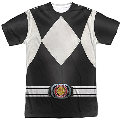 Power Rangers Children's Live Action TV Series Gray Costume Adult Front Print T