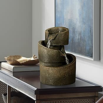 3-Tier Bronze Stone Contemporary 9 3/4
