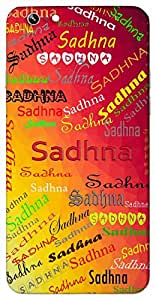 Sadhna (Worship) Name & Sign Printed All over customize & Personalized!! Protective back cover for your Smart Phone : Moto E-2 ( 2nd Gen )