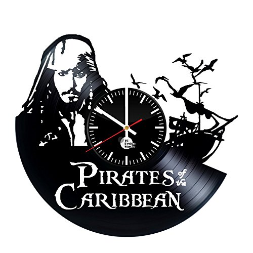 Pirates-of-the-Caribbean-Handmade-Vinyl-Record-Wall-Clock-Fun-gift-Vintage-Unique-Home-decor-Art-Design-Retro-Interier