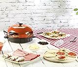 Rosenstein & Söhne Pizzaofen mit Metallhaube für 4 Personen -