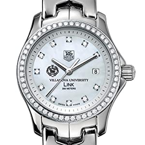 Villanova University TAG Heuer Watch - Women's Link Watch with Diamond Bezel