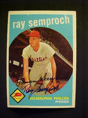 Ray Semproch Philadelphia Phillies #197 1959 Topps Autographed Baseball Card at Amazon.com