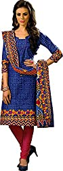 Suryajyoti Women's Cotton Dress Material (Pink_Free Size)