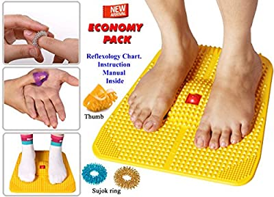 Acupressure Power Mat with Magnets n Pyramids for Pain Relief Useful for Heel Pain - Knee Pain - Leg Pain - Sciatica - Cramps - Migraine - Depression With Acupressure Health Care Products - Economy