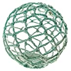 Decorative Glass Ball with Light Teal Net