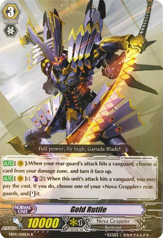 Cardfight!! Vanguard Tcg - Gold Rutile (Eb04/008En) - Extra Booster Pack 4: Infinite Phantom Legion front-940648
